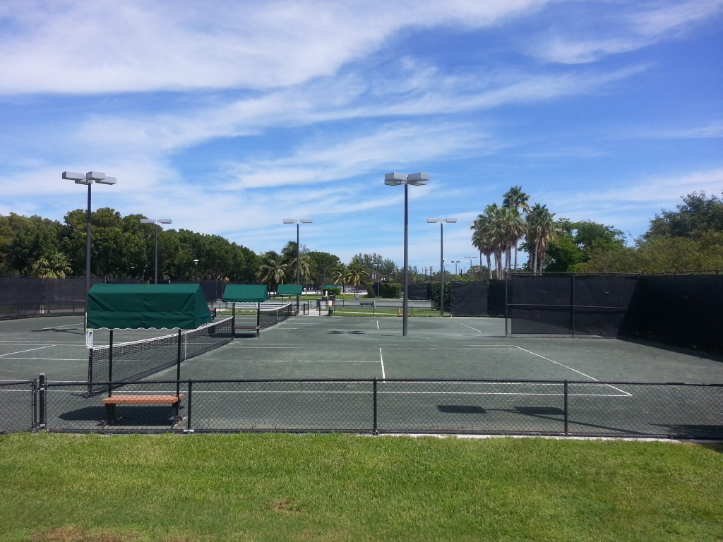 Picture of clay courts crandon park