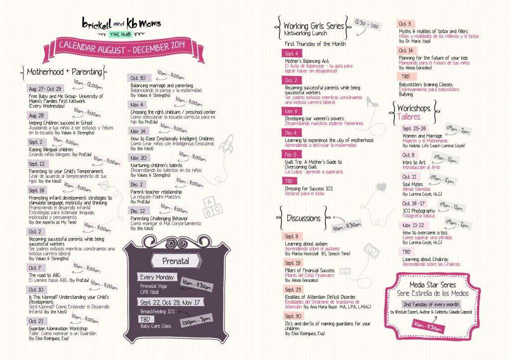 Calendario bkbmoms hub 2014